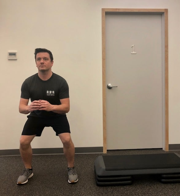 Lateral drop squat - Position 4 of 4