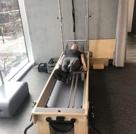 Pilates strengthening exercises runner legs straight